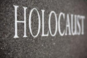 Image of the word holocaust engraved in stone